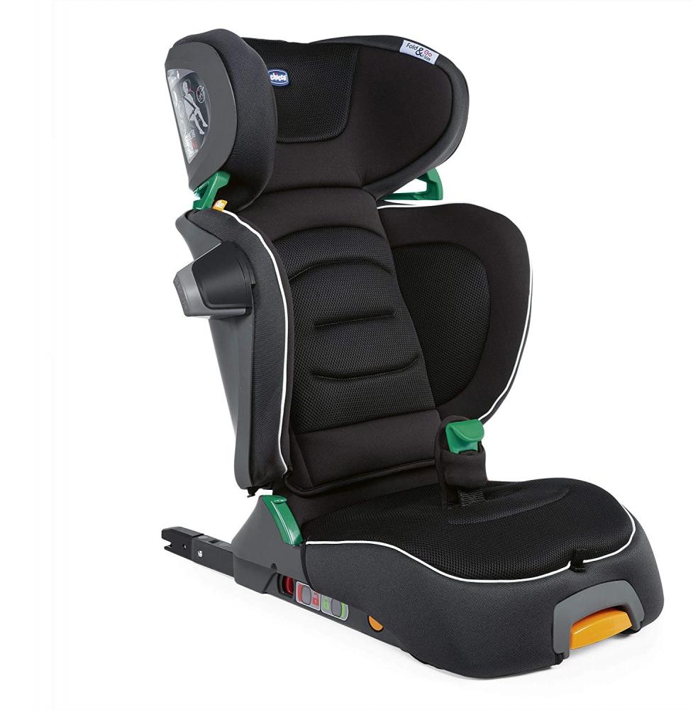 CHICCO Scaun auto Chicco FoldGo I-Size Isofix Black 100-150cm 3-12ani