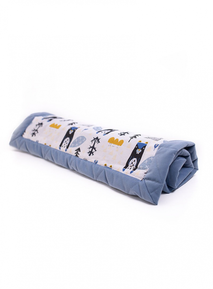 Set Baby Nest 2 in1 + paturica Soft Touch 100x70 cm jeans