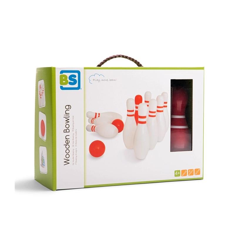 Set de bowling din lemn BS Toys