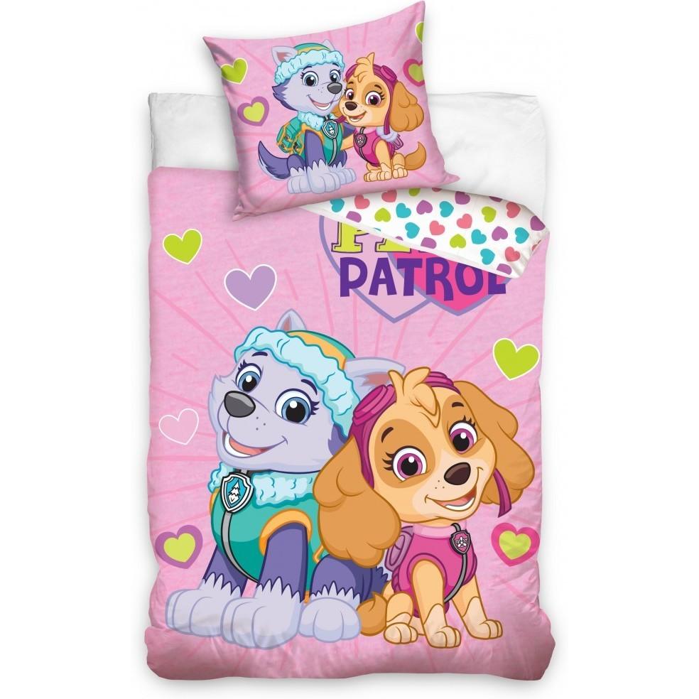 Set lenjerie pat copii Paw Patrol Skye and Everest 100x135 + 40x60