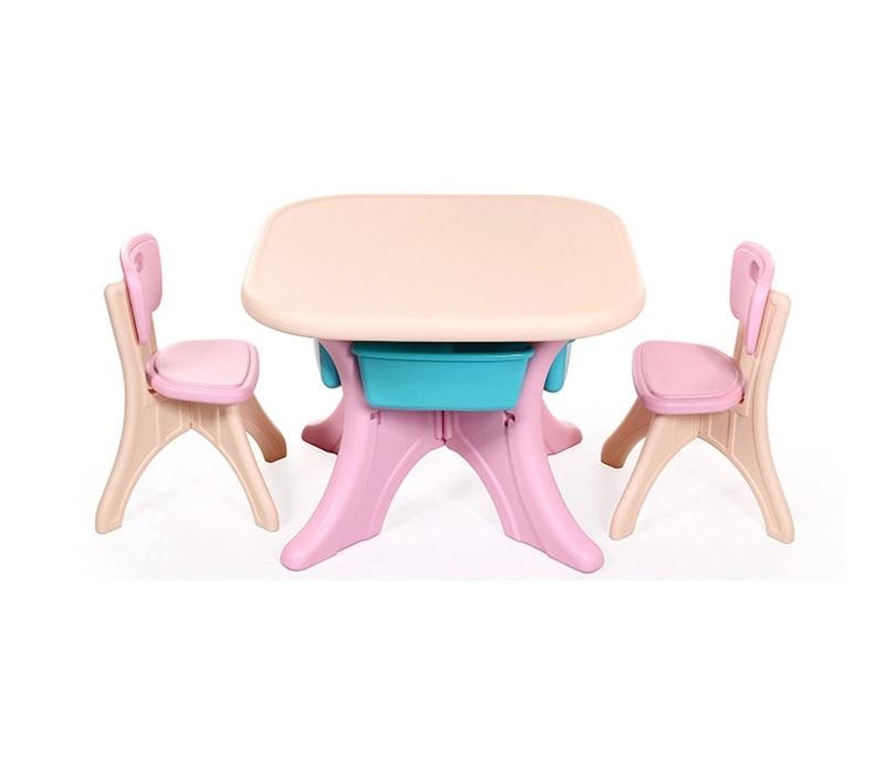 Set masuta cu doua scaunele Nichiduta Activity BeigePink