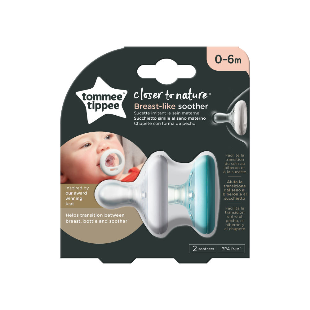 Suzete Tommee Tippee Closer to Nature 0-6 luni albverde