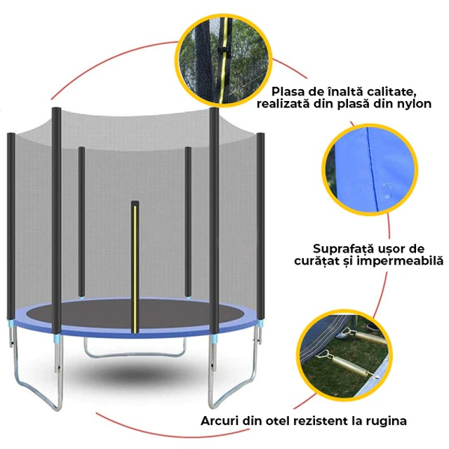 Trambulina Nichiduta cu scara si plasa de protectie 366 cm