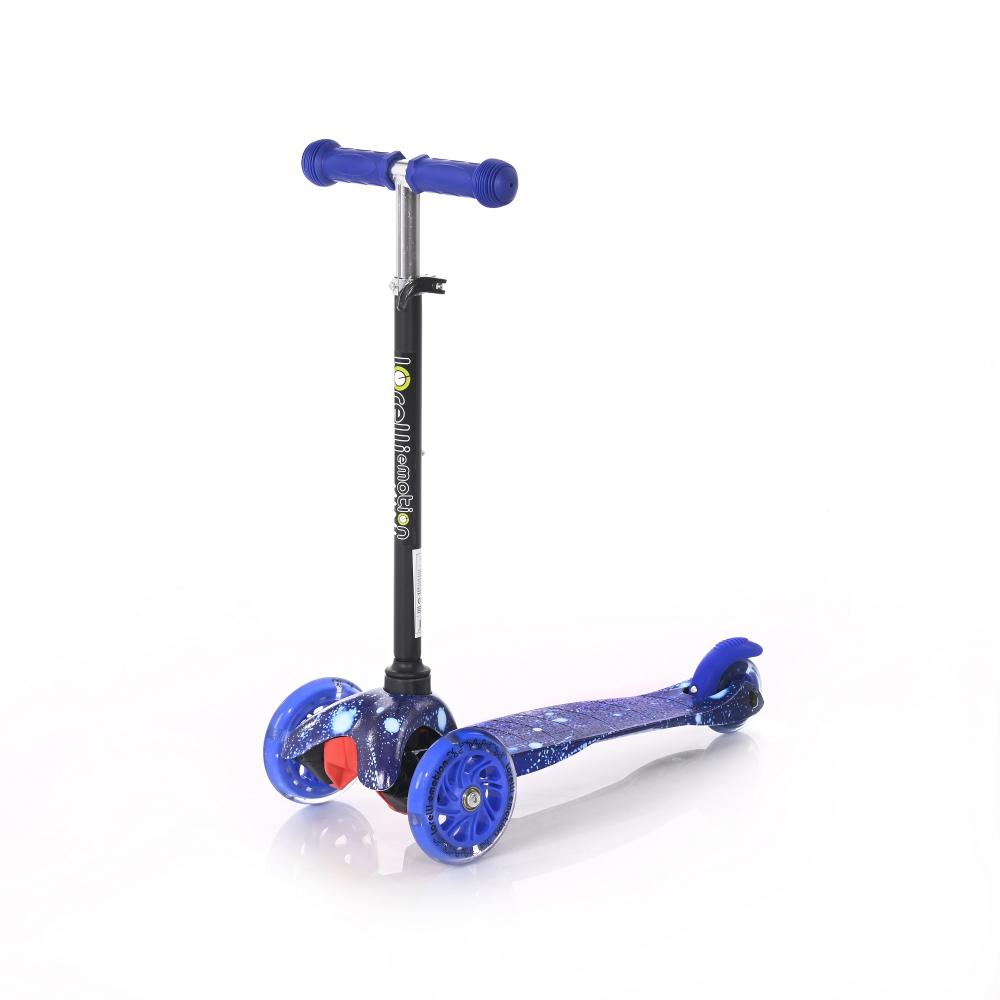 LORELLI Trotineta pentru copii  cu 3 roti cu leduri Mini Blue Cosmos