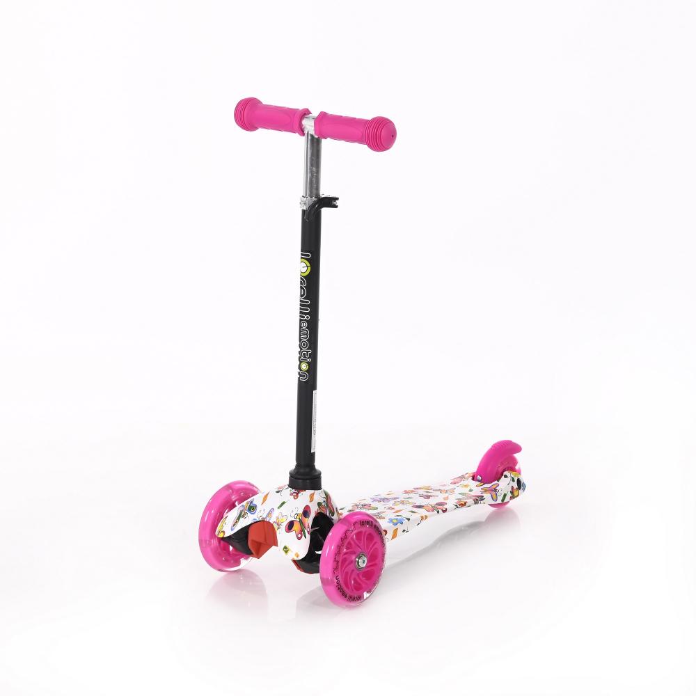LORELLI Trotineta pentru copii  cu 3 roti cu leduri Mini Pink Butterfly