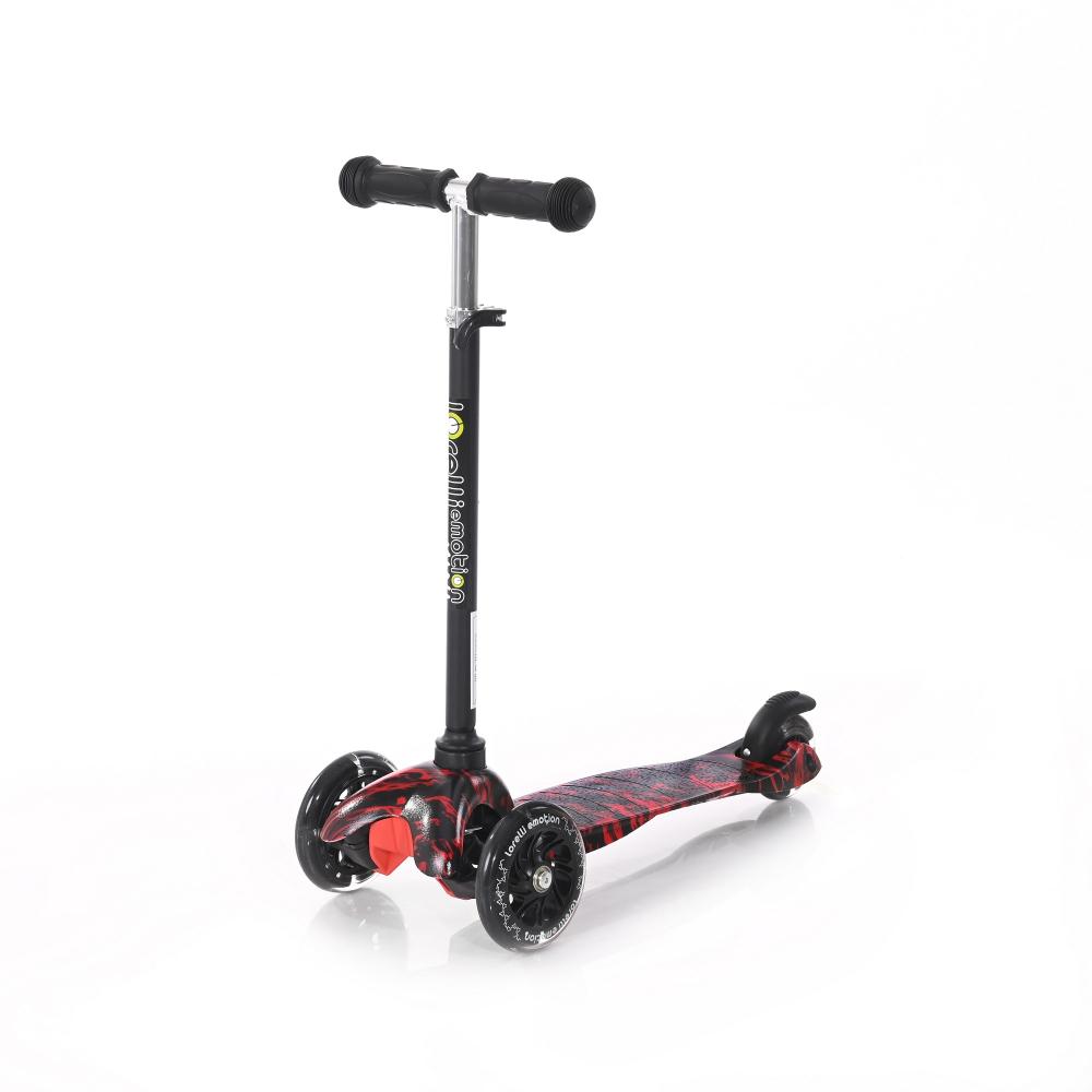 LORELLI Trotineta pentru copii  cu 3 roti cu leduri Mini Red Fire