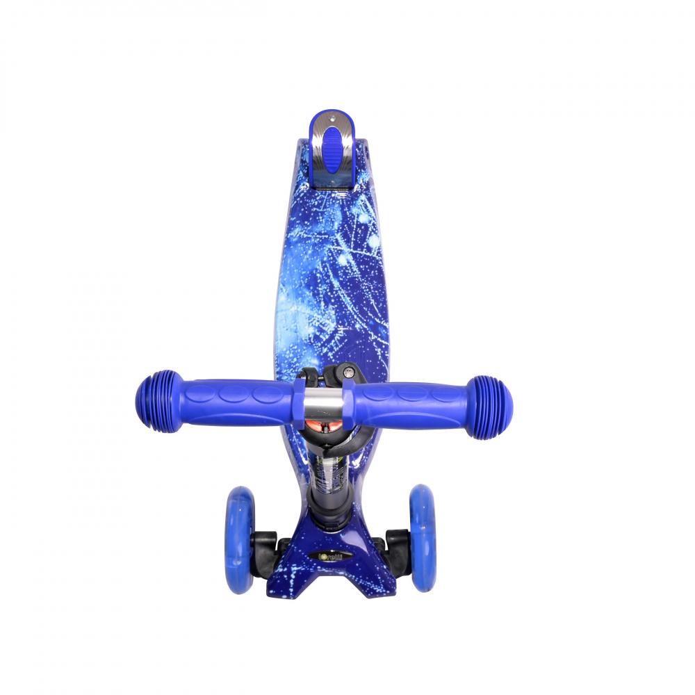 Trotineta pentru copii 4 roti cu leduri Rapid Blue Cosmos