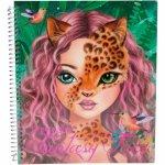 Carte de colorat Creatia ta Fantasy Face Depesche PT6463