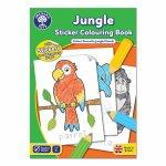 Carte de colorat cu activitati in limba engleza si abtibilduri Jungla