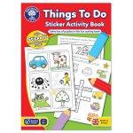 Carte de colorat cu activitati in limba engleza si abtibilduri lucruri de facut