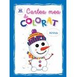 Cartea mea de colorat Iarna