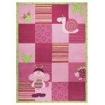 Covor copii & tineret Bee acril roz 70x140