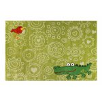 Covor copii & tineret Crocodile verde 80x150