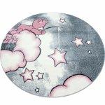 Covor copii & tineret Eugene rotund roz 120x120
