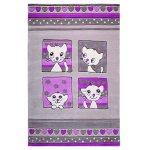 Covor copii & tineret Kitty Kat acril gri 110x170