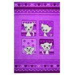 Covor copii & tineret Kitty Kat acril mov 110x170