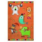 Covor copii & tineret Little Artists acril portocaliu 110x170