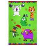 Covor copii & tineret Little Artists acril verde 110x170