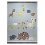 Covor copii & tineret Lucky Zoo acril albastru 70x140
