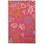 Covor copii & tineret Mosley roz 67x120