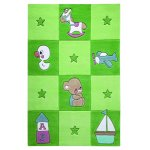 Covor copii & tineret Newborn acril verde 110x170