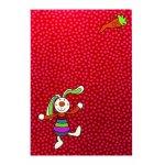 Covor copii & tineret Rainbow Rabbit rosu 80x150