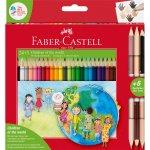 Creioane colorate Children Of The World Faber-Castell 24 + 3 culori