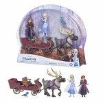 Set papusi Disney Anna si Elsa cu sanie