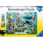 Puzzle animale subacvatice 100 piese