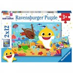 Puzzle Baby Shark 2x12 piese