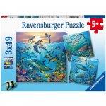 Puzzle lumea subacvatica 3x49 piese