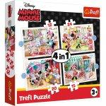 Puzzle Trefl 4 in 1 Minnie Mouse si prietenii ei