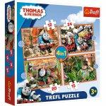 Puzzle Trefl 4 in 1 Thomas calatorie in jurul lumii