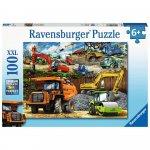 Puzzle vehicule de constructii 100 piese