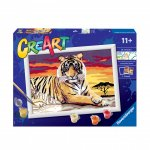 Pictura pe numere tigru
