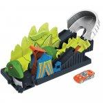 Pista de masini Hot Wheels by Mattel Toxic Dino coaster attack cu masinuta