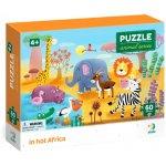 Puzzle Minunatele animalute din Africa  60 piese