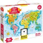 Puzzle Descopera lumea Tinerii exploratori 168 piese 98x68cm Banana Panda BP33672