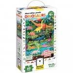 Puzzle Dinozauri 60 piese 48x68cm Banana Panda BP49112