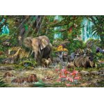 Puzzle Educa African jungle 2000 piese include lipici puzzle