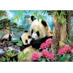 Puzzle Educa Panda 1000 piese include lipici
