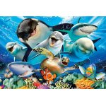 Puzzle Educa Underwater selfies 500 piese include lipici puzzle
