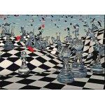 Puzzle Gold puzzle Fantasy Chess 1.000 piese alb-negru