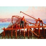 Puzzle Gold puzzle Fausto Zonaro Fishermen Bringing in the Catch 1.000 piese