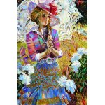 Puzzle Gold puzzle Girl with Open Umbrella 1.000 piese