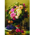 Puzzle Gold puzzle Jean-Baptiste Robie Still Life with Roses Grapes and Plums 1.000 piese