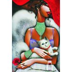 Puzzle Gold puzzle Lady with a Cat 1.000 piese