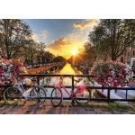Puzzle Gold puzzle Sunrise in Amsterdam 1.000 piese