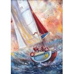 Puzzle Gold puzzle Three Seamen on a Boat 500 piese