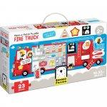 Puzzle Masina de pompieri 23 piese 98x33cm Banana Panda BP49044
